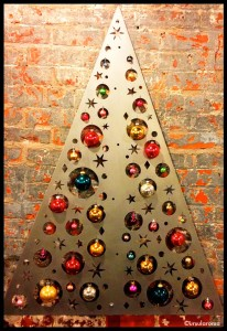 metal christmas tree wall art
